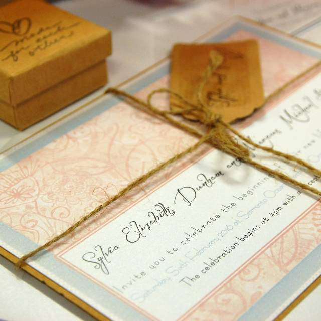 Discount wedding papers bohemian invitations wedding invitations floral rustic tags twine kraft diy invitations solutioingenieria Image collections