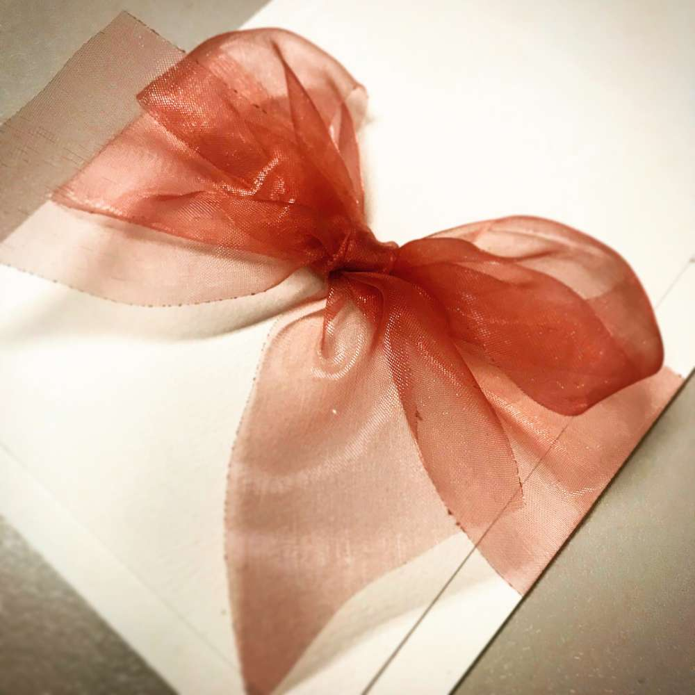 Rose Bow with Felt Card