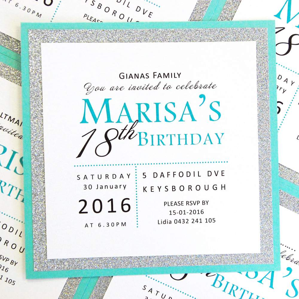 Tiffany Blue, Lagoon Card, Glitter Paper, Silver Glitter, Invitations, Designer Paper, Discount Wedding Papers, DWP