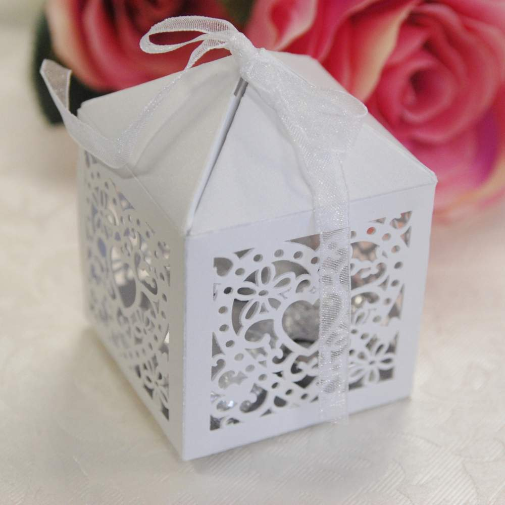Heart Box, Heart Birdcage, Bonbonniere, Laser Cut Box, Die Cut Box, Discount Wedding Papers, DWP