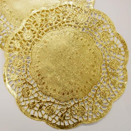 Large Gold Paper Doily